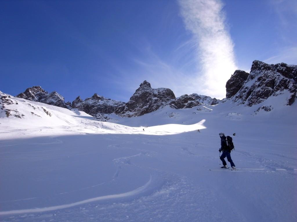 descente du glacier de Beugeant - variante ouest