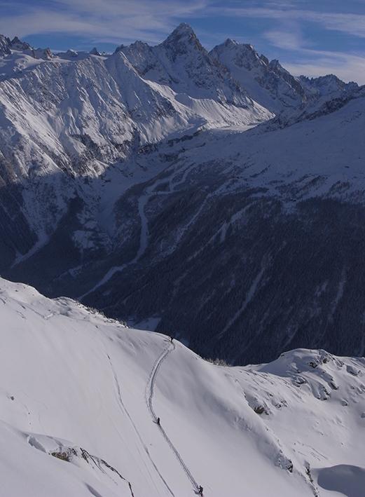 Approche avant le Lac Blanc (verticale)