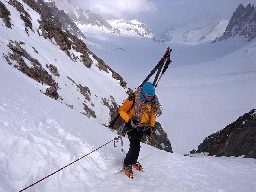 Descente du col du Chardonnet - versant suisse