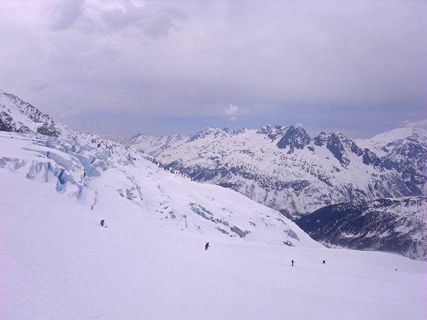 Descente du glacier du Tour
