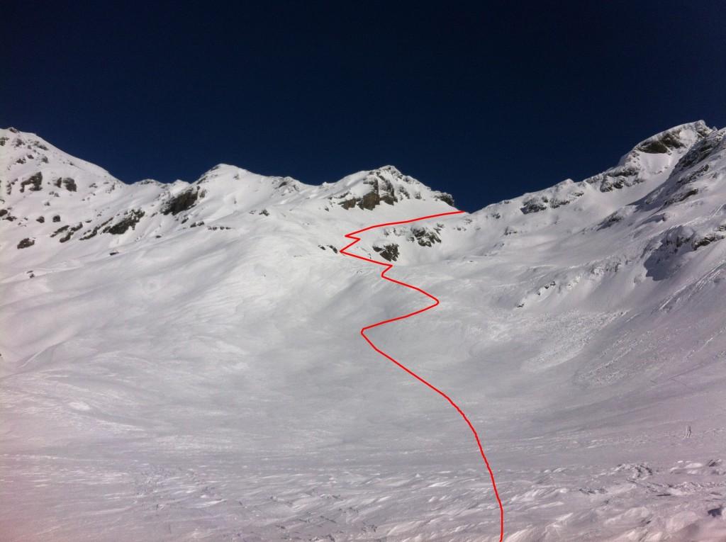 Le haut de la montée au col de Salenton, versant Diose