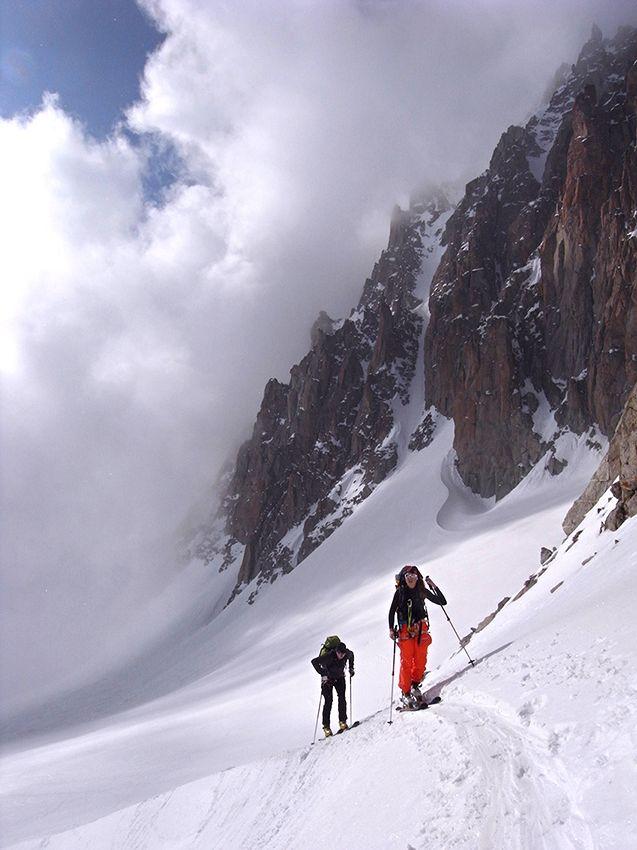 Arrivée au Col du Chardonnet