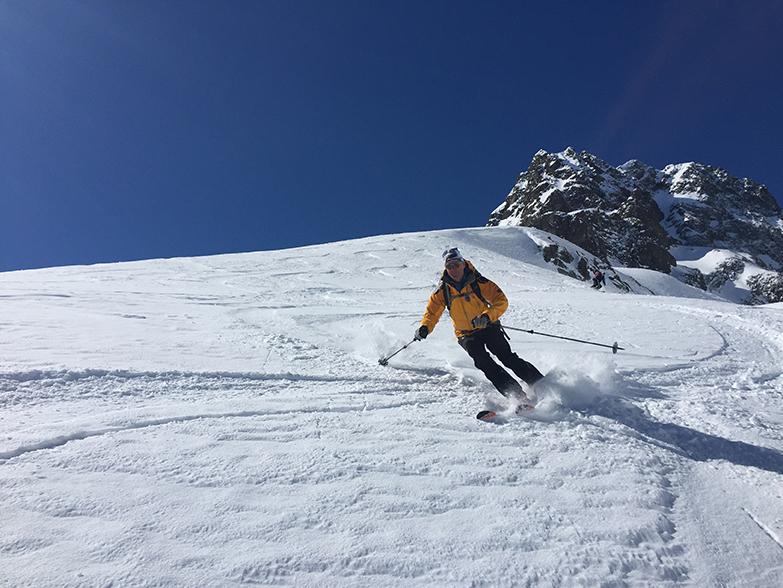 Christian skie sous la Remuaz Photo ©Pascal Strappazzon