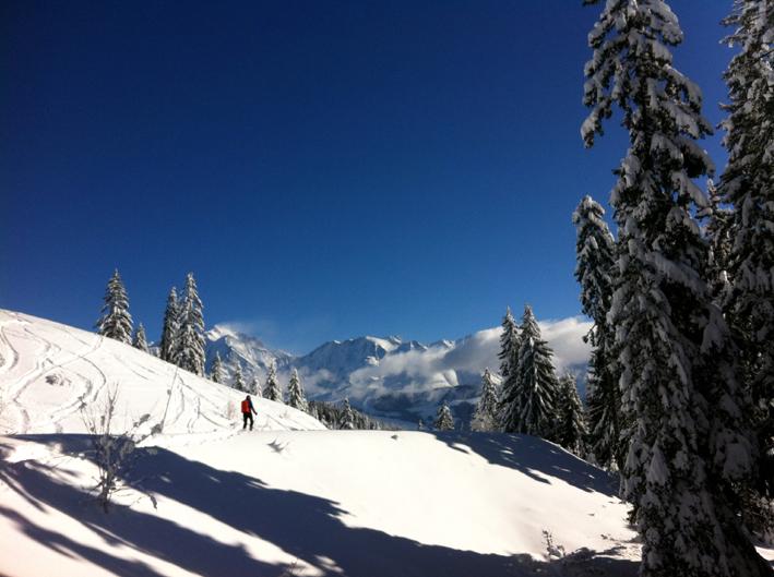 Le Mont Blanc en toile de fond