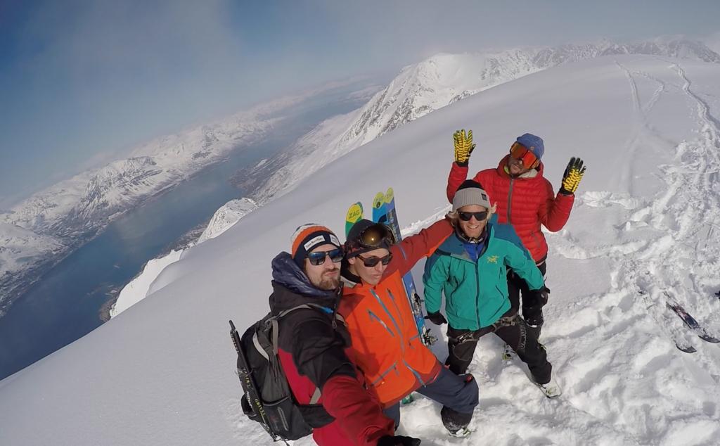 Luighi et ses amis lors de son trip dans les Alpes du Lyngen, en Norvège