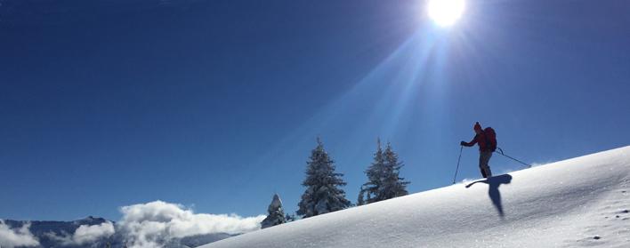 Soleil, belle neige, ski plaisir